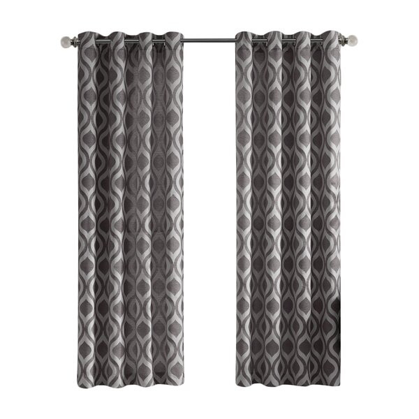 Modern Gray Silver Curtains Drapes Allmodern