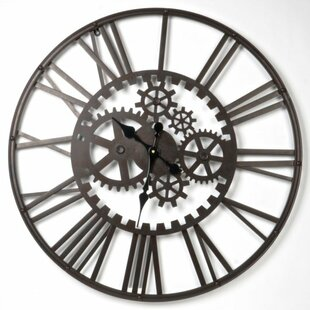 Weslyn Metal Gear Wall Clock