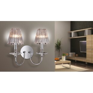 Candle wall lights youll love buy online wayfair alfreton 2 light candle wall light aloadofball Images