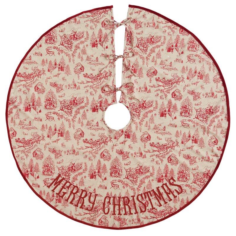 toile christmas tree skirt - Pink Christmas Tree Skirt