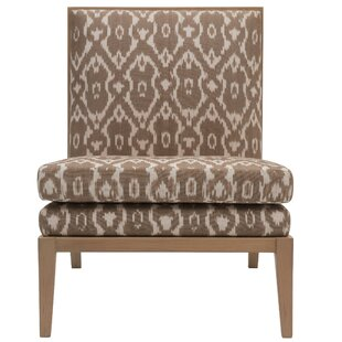 Madeleine Parisian Ikat Print Slipper Chair