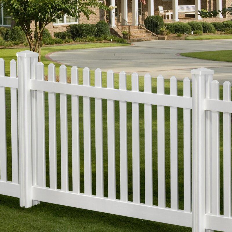 Traditional 4u0027 X 7u0027 Classic Picket Fence