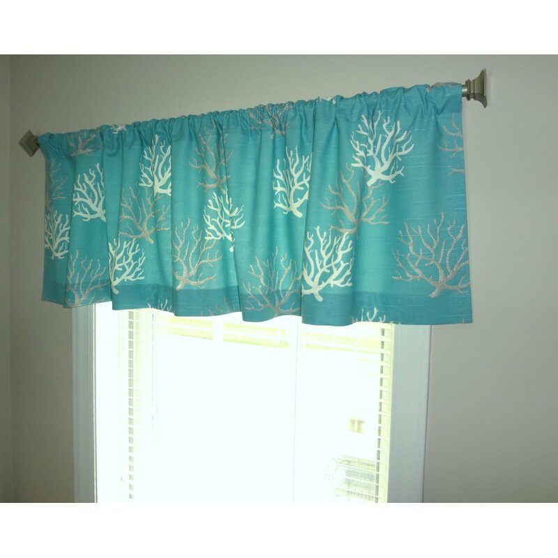 "HomeLiving Nautical Ocean Coral 52"" Curtain Valance"