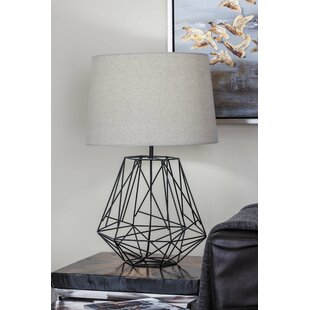 Wire cage lamp wayfair metal wire 25 table lamp greentooth Images