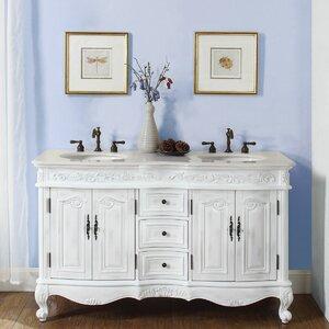 bathroom double sink cabinets. Save to Idea Board  One Allium Way Owensby 58 Double Bathroom Vanity Set Vanities You ll Love Wayfair