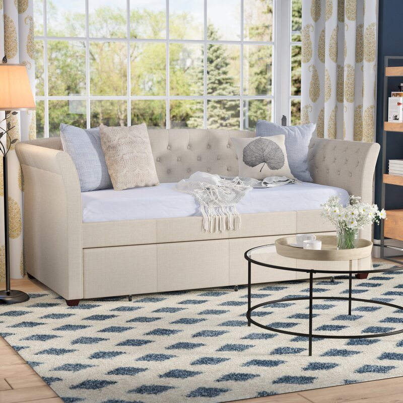 Milligan Twin Daybed With Trundle Traditional Living Room Design