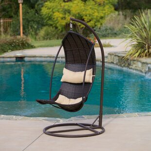 Medium image of moorea wicker swing chair with stand