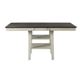 Ridgley Counter Height Extendable Solid Wood Dining Table