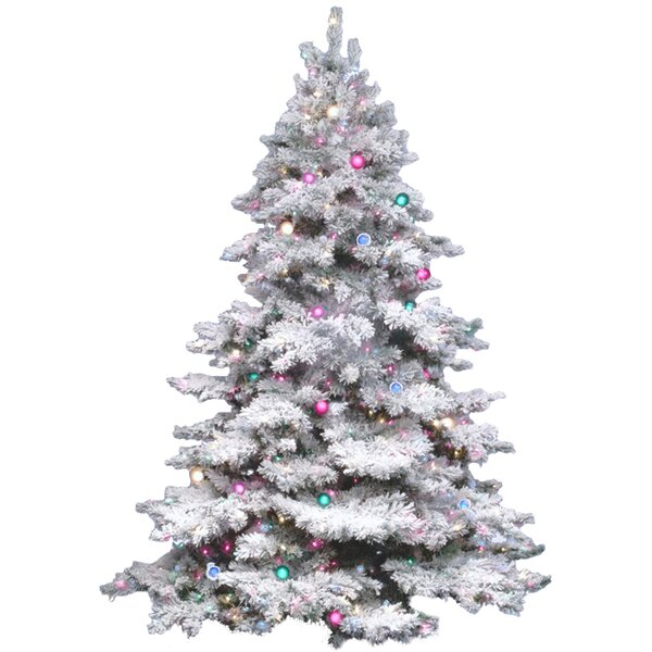 The Holiday Aisle Flocked Alaskan 4 5 White Artificial