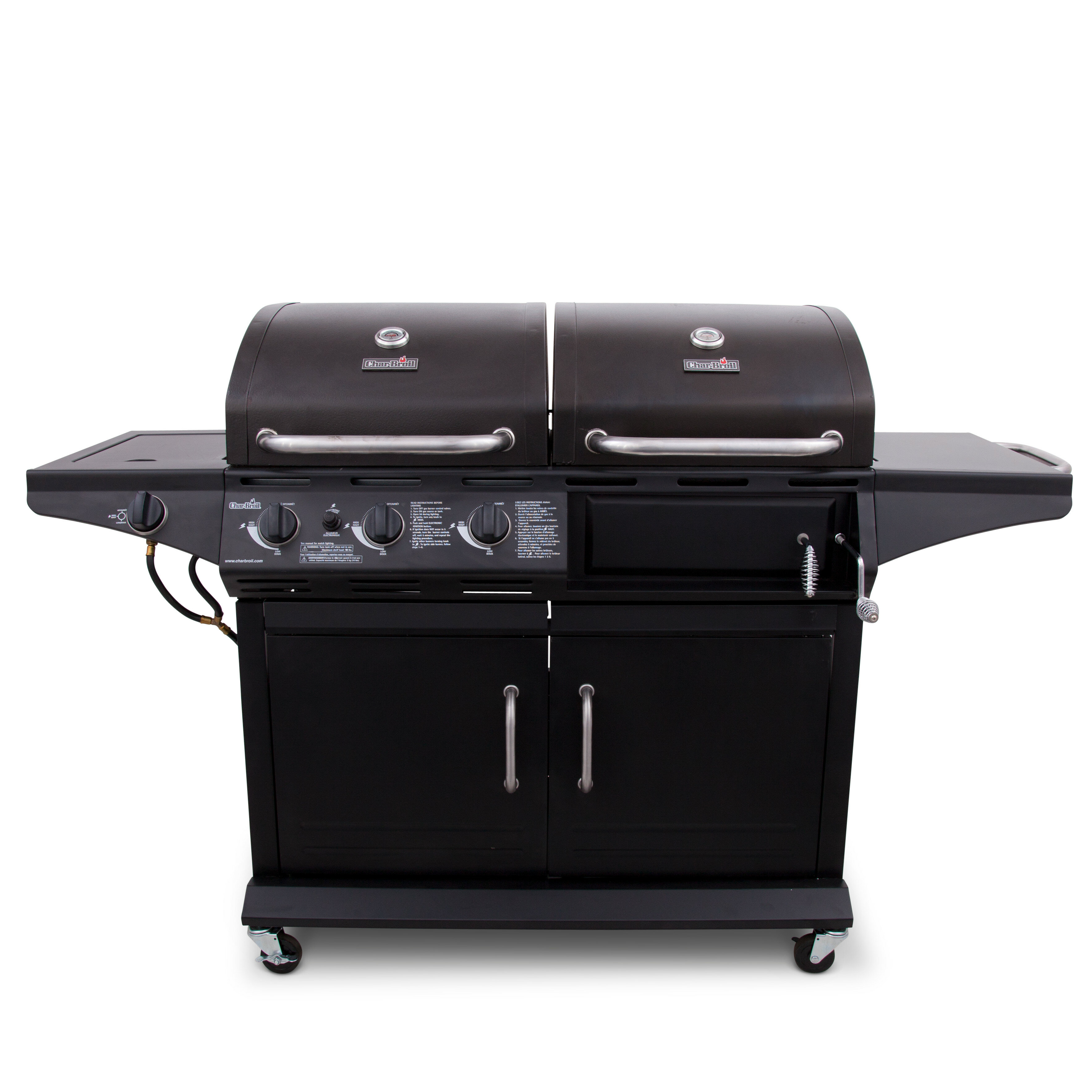 Charbroil Deluxe Combo Charcoal Grill With Side Burner Reviews Wayfair