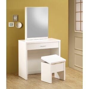 White Bedroom Vanities white vanity tables you'll love | wayfair