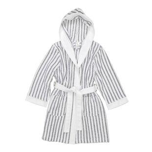 603fe96f8d Brett Kids Stripe 100% Turkish Cotton Terry Cloth Bathrobe