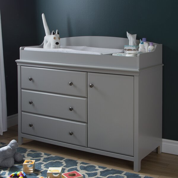 Bathroom Changing Table south shore cotton candy dresser combo & reviews | wayfair