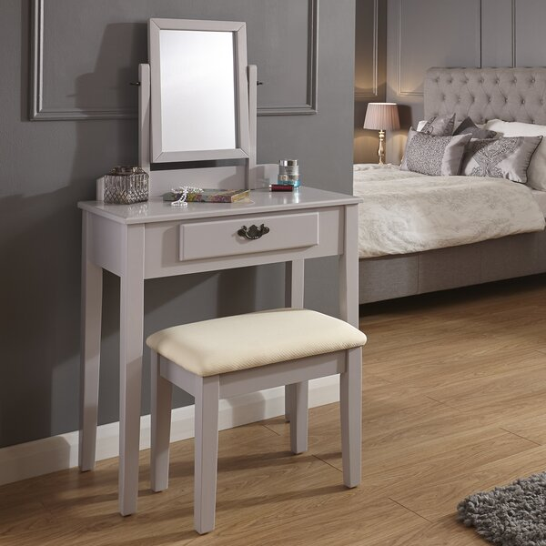 Andover Mills Sheila Dressing Table Set with Mirror & Reviews ...