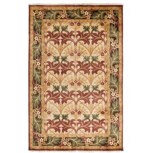 Pritchard Hand Knotted Beige Area Rug