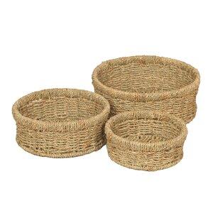 3-tlg. Korb-Set Seagrass Wicker von House Additi..
