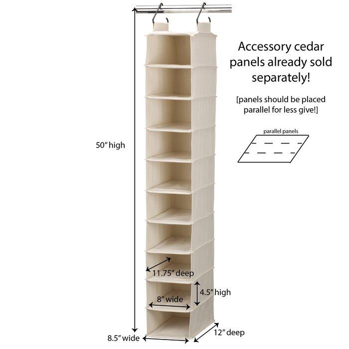 Household Essentials Cedarline 10 Pair Hanging Shoe Organizer ... 38c4b1ab48