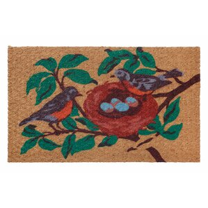 Low Profile Flatweave Bird Doormat