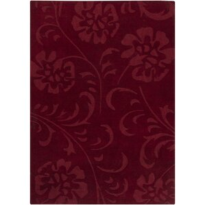 canistota red floral area rug