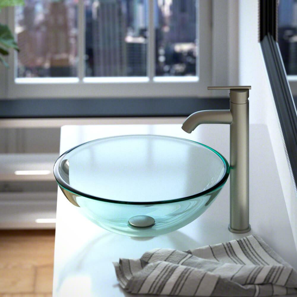 MRDirect Tempered Glass Circular Vessel Bathroom Sink & Reviews ...