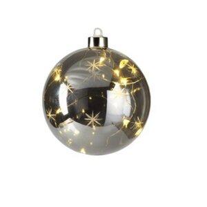 Smoke Star Design LED Ball Ornament (Set of 4)
