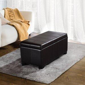 Thompsonville Leather Storage Ottoman
