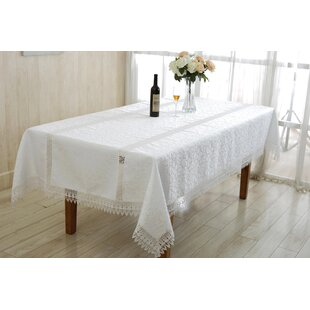Ruby Embroidered Oblong/Rectangle Tablecloth