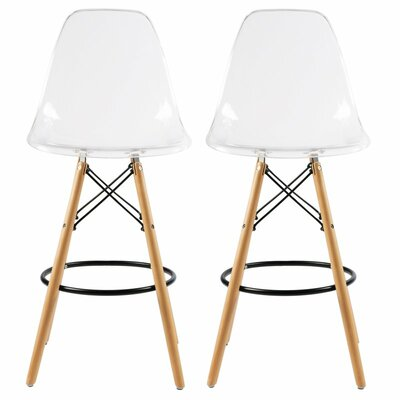 Clear Counter Height Bar Stools You Ll Love Wayfair Ca