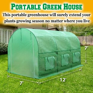 7 Ft. W X 12 Ft. D Hobby Greenhouse