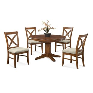 Hues 5 Piece Solid Wood Dining Set