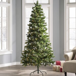 7 green fir artificial christmas tree with 350 clear lights - 6 Pre Lit Christmas Tree