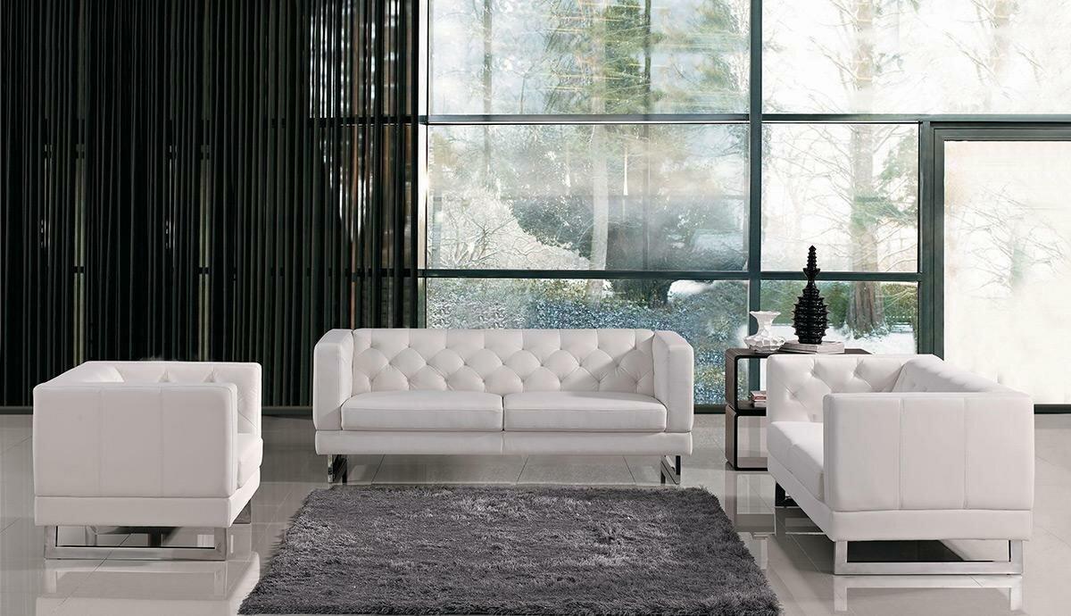 Alsatia Leather 3 Piece Living Room Set