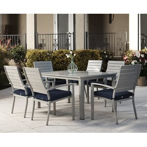 Yohan 7 Piece Dining Set with Cushion
