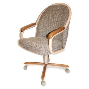 Gentry Mid-Back Dining Caster Chair with ..