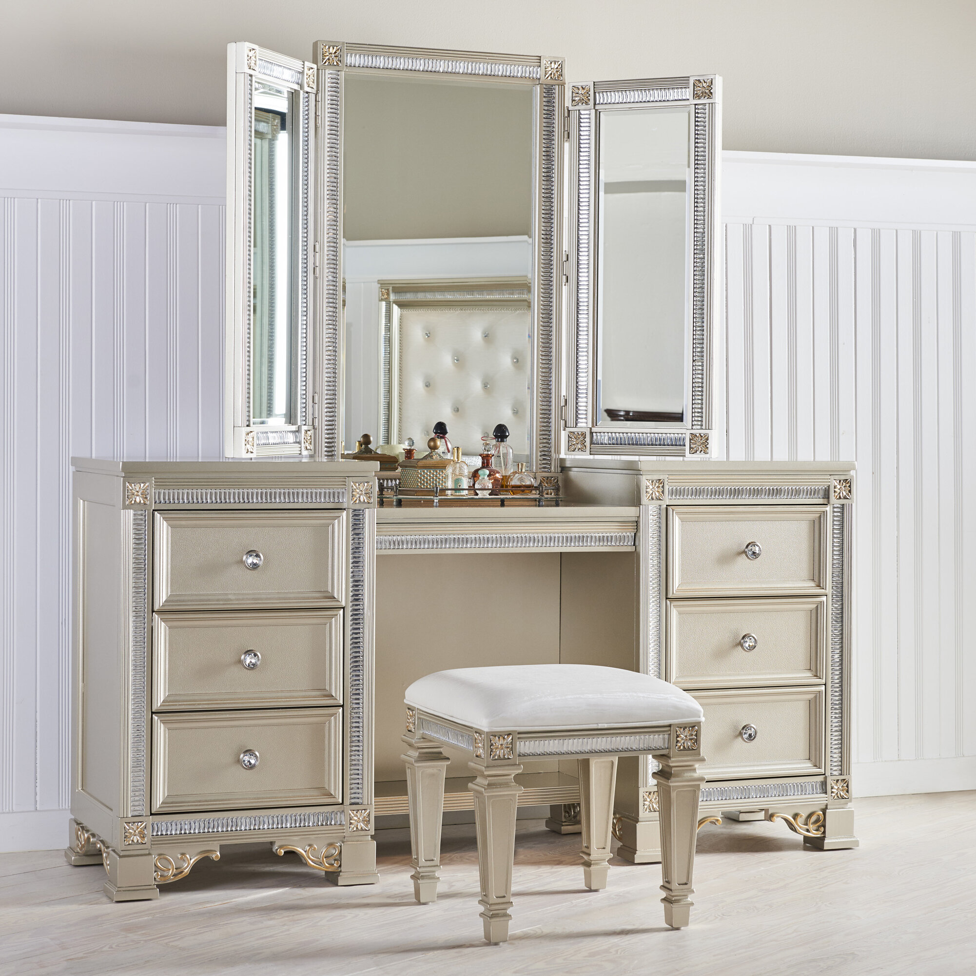 decorating home drawer vanity mirrorlegacy boutique desk ideas with and mirror white kids design classic