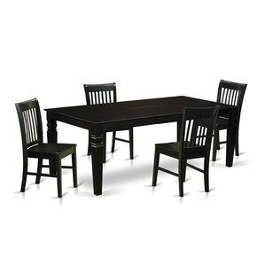 Beesley 5 Piece White Dining Set by Darby Home Co