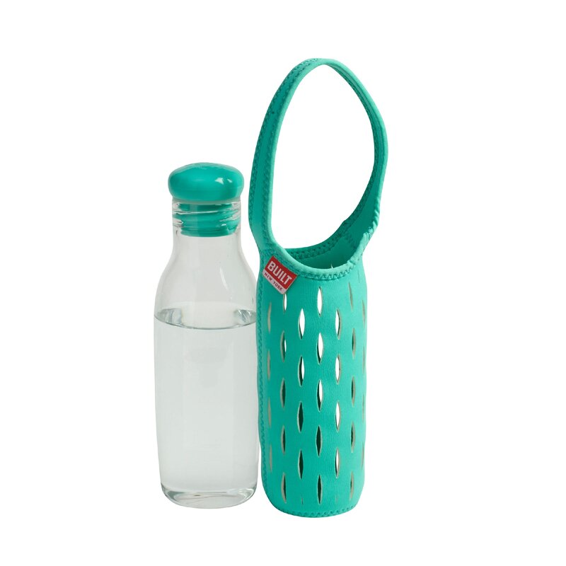 b4fa9a12cc Built NY 17 oz. Glass Water Bottle/Travel Tumblers with Neoprene ...