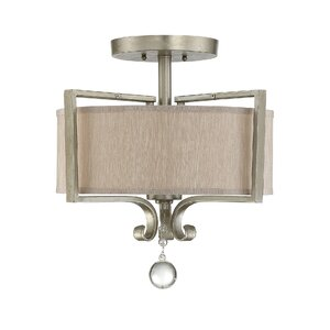 Beasley 2-Light Semi Flush Mount