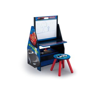 Disney Pixar Cars 20� Art Desk with Stool and Toy Organizer by Delta Children