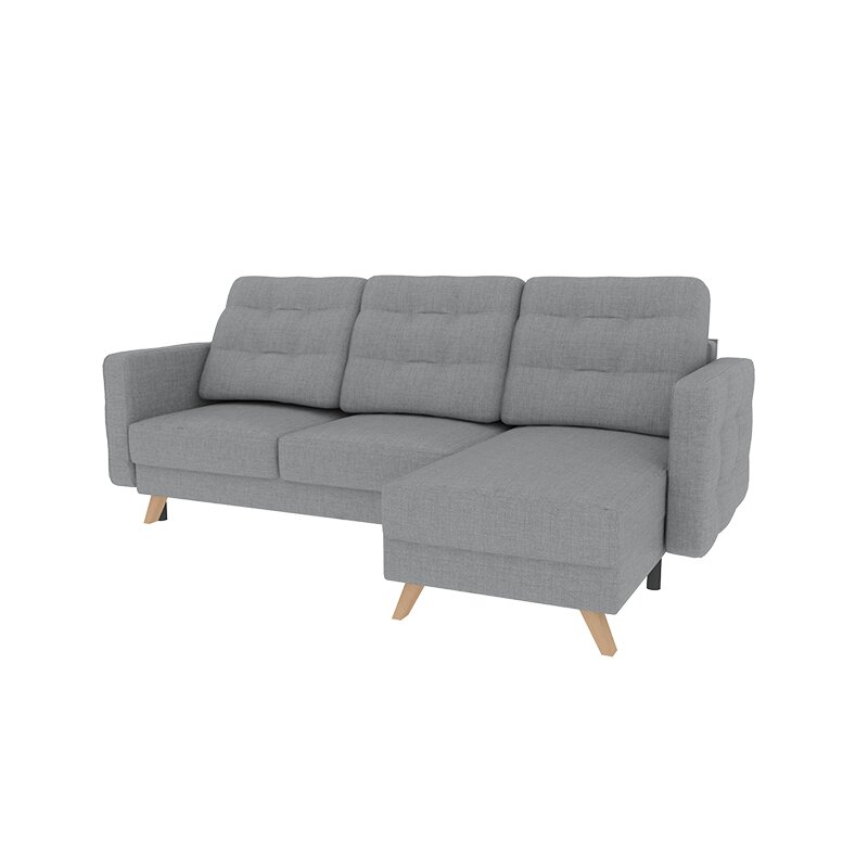 Velvet Reversible Corner Sofa Bed