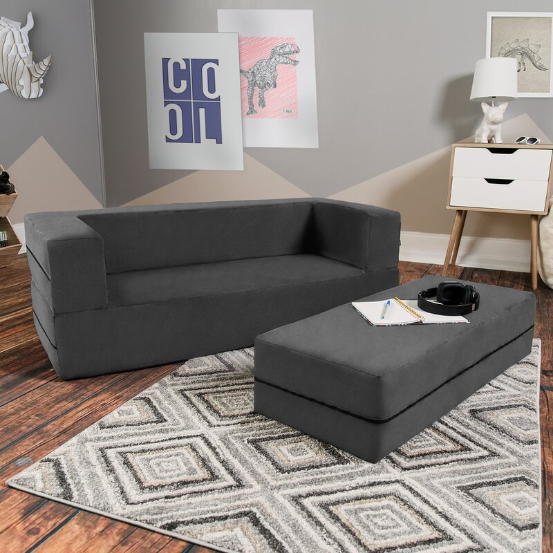 Exceptional Goldie Big Kids Convertible Sleeper Sofa And Ottoman