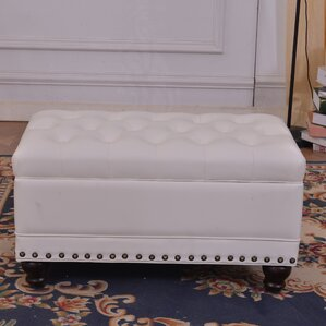 Luxury Comfort Classic Tufted Storage Ottoman by Bellasario Collection