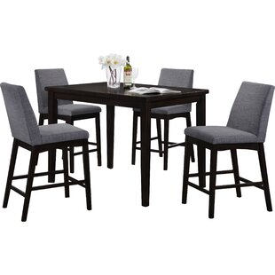 Erdman 5 Piece Bar Height Dining Set