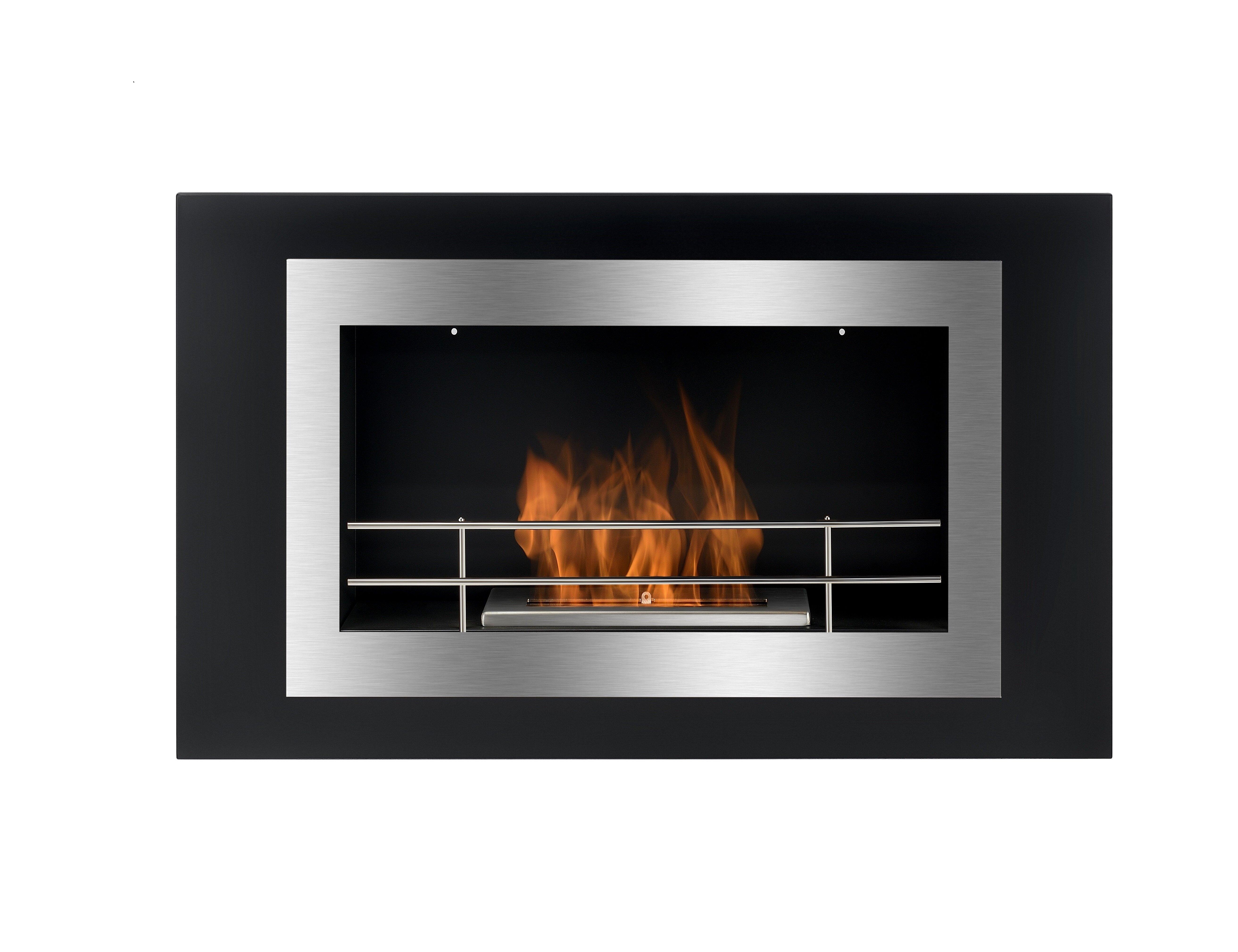 Bioflame Lorenzo Wall Mounted Ethanol Fireplace Wayfair