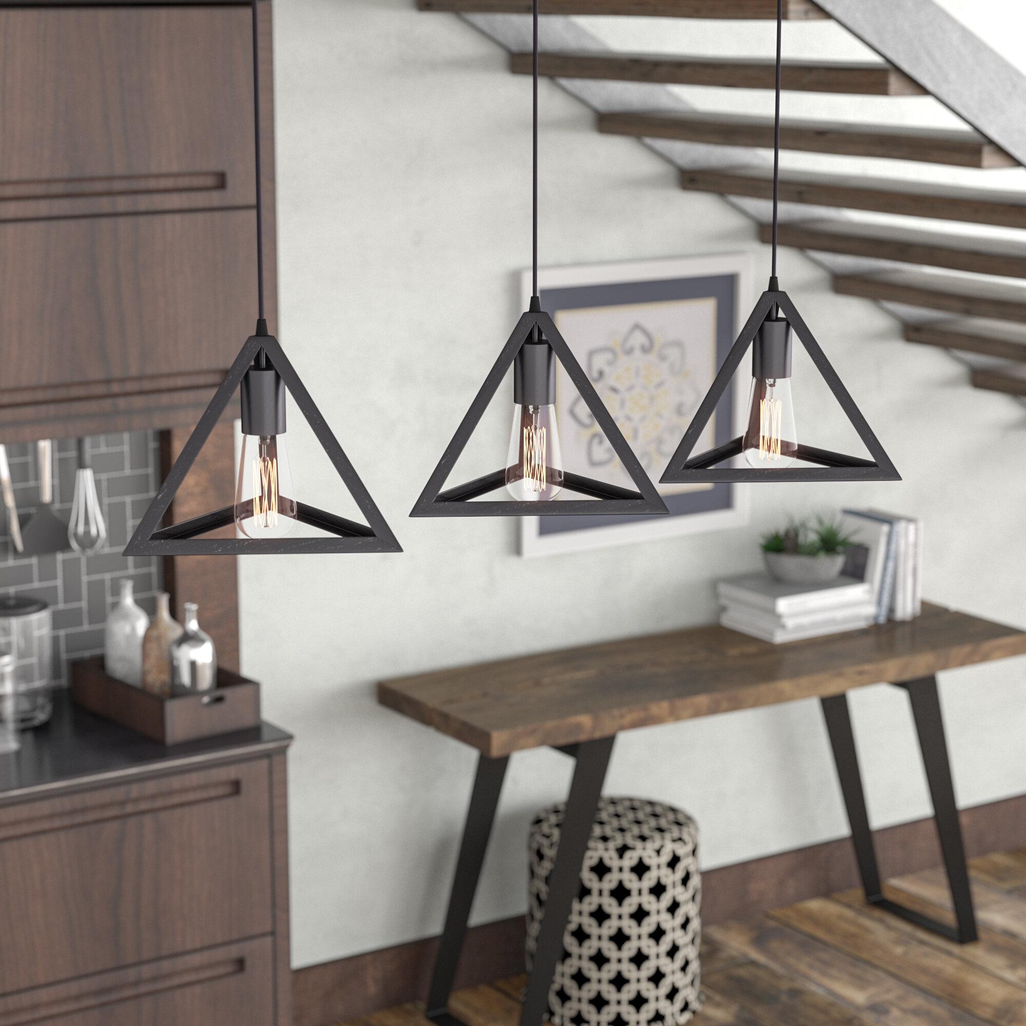 Brayden Studio Merriam 3-Light Kitchen Island Pendant & Reviews ...