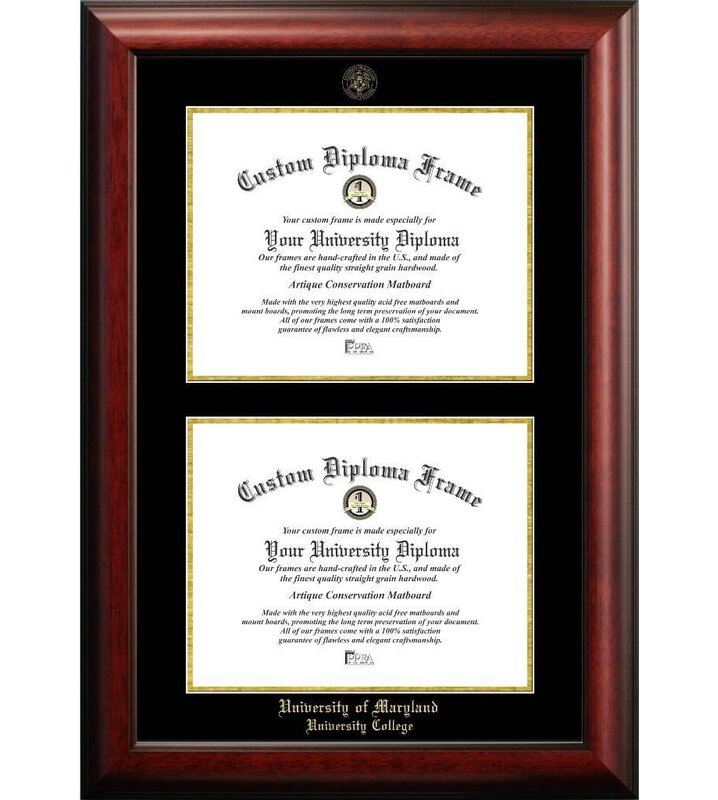 Diploma Frame Deals University of Maryland University College Double ...