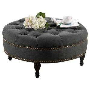 Baxton Studio Catherine Tufted Ottoman by Wholesale Interiors