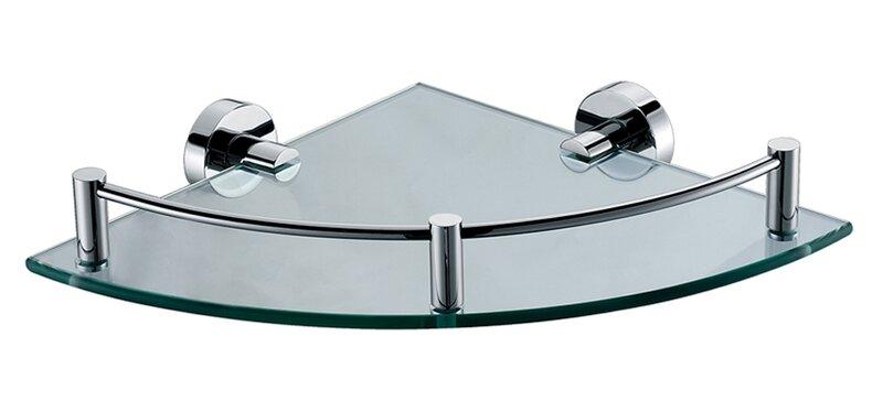 ALFI Brand AB9546 Polished Chrome Corner Mounted Glass Shower Shelf Bathroom  Accessory | Wayfair