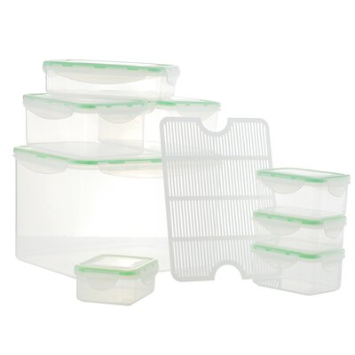 Al Dente Plastic 8 Container Food Storage Set