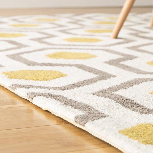 Noam Hand Tufted Beige Gray Yellow Area Rug